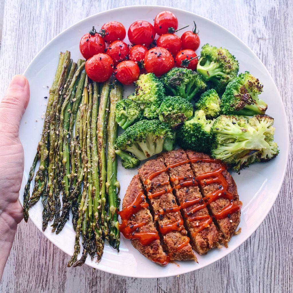 Hamburguesa vegana de avena y lentejas