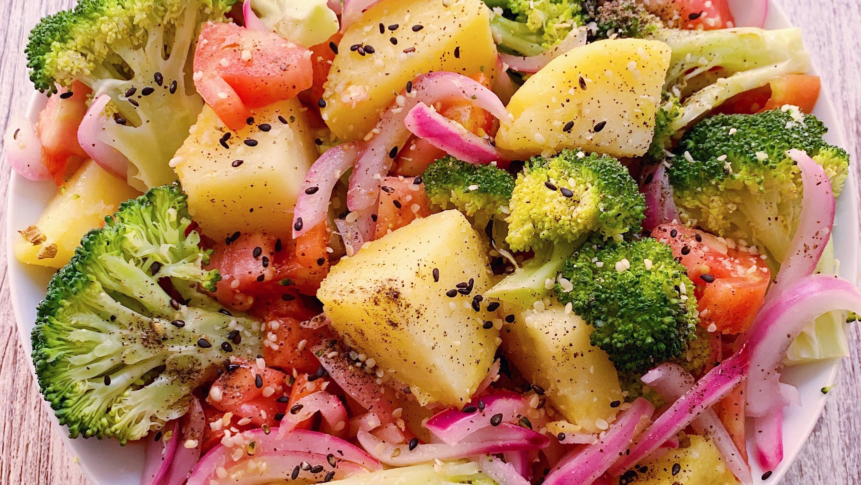 Ensalada de patata y brócoli