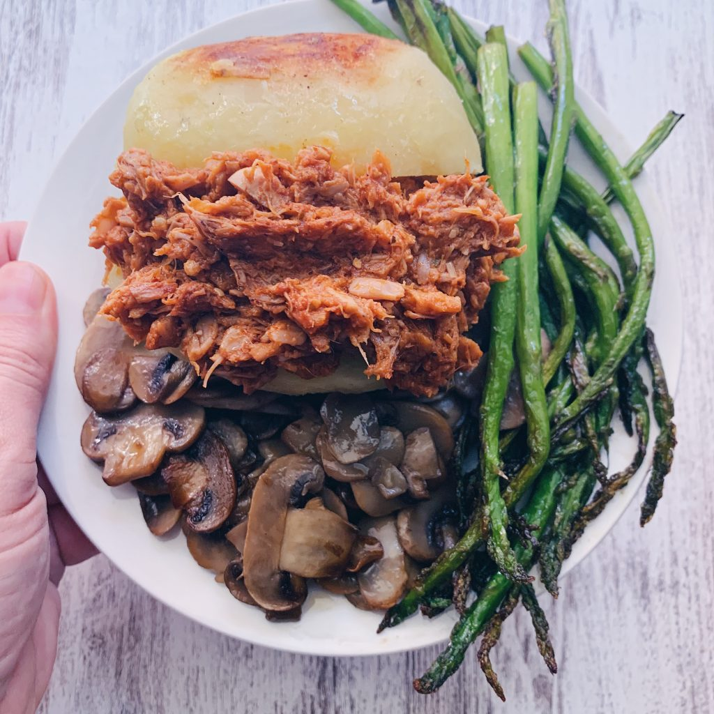 Pulled pork vegetal a base de jackfruit