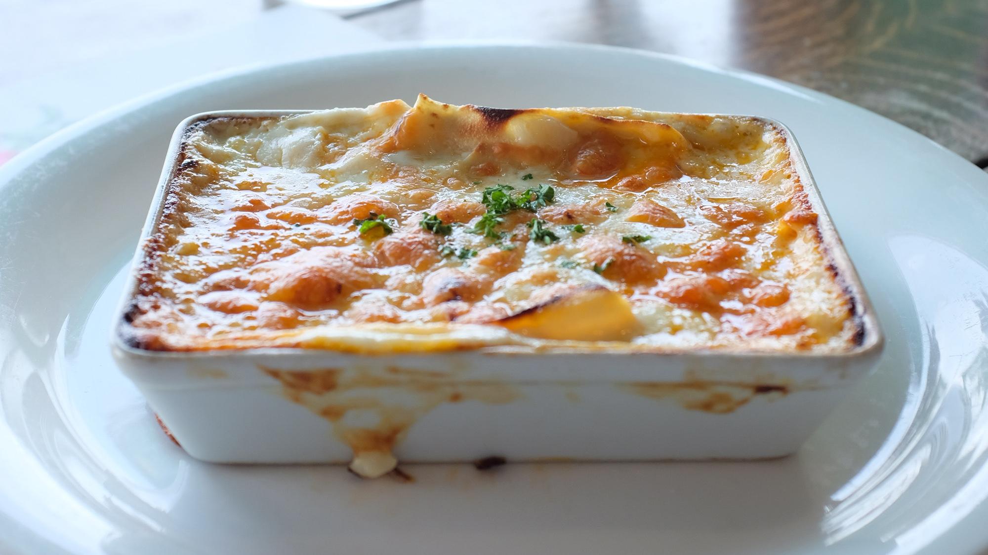 lasagna con bechamel vegana